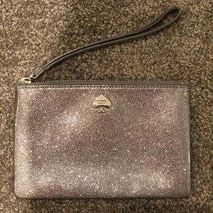 KATE SPADE Sparkly Silver Wallet Used